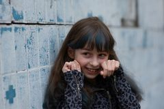 Free Portrait Of Nine Year Old Girl. A Series Of Photos Of A Girl Of 8 Or 9 Years Old Royalty Free Stock Photography - 163908607