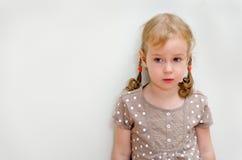 Portrait Of Sad Little Girl Stock Images