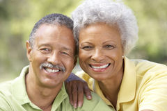 Free Portrait Of Senior Couple In Park Royalty Free Stock Image - 12404566