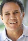 Portrait Of Senior Man Smiling Happily Stock Photos