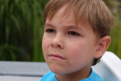 Portrait Of Serious Boy Stock Photo