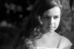 Free Portrait Of Serious Little Girl Stock Images - 62961444