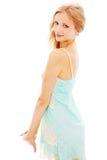 Portrait Of Slim Blond Girl In Sundress Stock Images