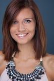 Portrait Of Smiling Brunette Girl Royalty Free Stock Image
