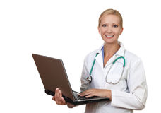 Portrait Of Smiling Female Doctor Royalty Free Stock Photography