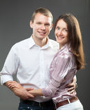 Portrait Of Smiling Young Couple Royalty Free Stock Photos