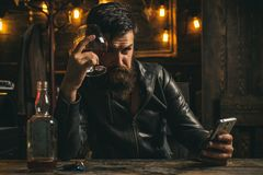 Free Portrait Of Stylish Man Beard. Vintage Barbershop, Shaving. Men`s Beauty, Fashion. Male Beard And Mustache. Man Is Royalty Free Stock Images - 155057109