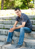 Portrait Of Stylish Young Man Royalty Free Stock Photo