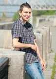 Portrait Of Stylish Young Man Outdoors Royalty Free Stock Images
