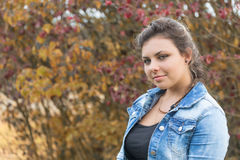 Portrait Of Teenage Girl Outdoors Stock Images
