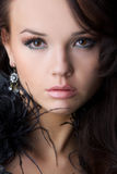 Portrait Of The Beautiful Girl Royalty Free Stock Photos