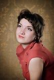 Portrait Of The Beautiful Stylish Brunette Woman Royalty Free Stock Image