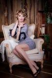 Portrait Of The Beautiful Woman In Studio Stock Image