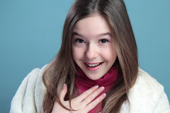 Portrait Of The Girl. Stock Photo