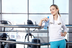 Portrait Of The Girl In Fitness Club Royalty Free Stock Photography