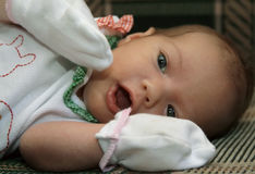Portrait Of The Newborn Girl Stock Images