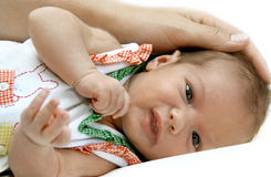 Portrait Of The Newborn Girl Stock Image