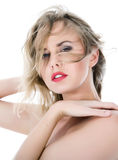 Portrait Of The Nude Blonde With Blue Eyes Royalty Free Stock Photo