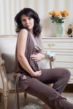 Portrait Of The Pregnant Girl Stock Images