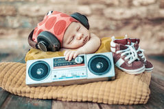 Free Portrait Of The Young Newborn DJ Stock Image - 82494171