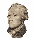 Portrait Of U.S. President Alexander Hamilton Stock Photos