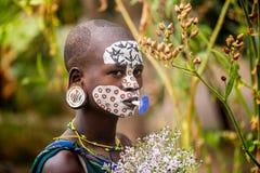Free Portrait Of Unidentified Surmi Woman Stock Photos - 127102173