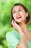 Portrait Of Woman Talking On Phone Royalty Free Stock Photo