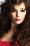 Portrait Of Woman With Beautiful Make-up Royalty Free Stock Photos