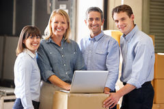 Free Portrait Of Workers In Distribution Warehouse Royalty Free Stock Image - 29336416