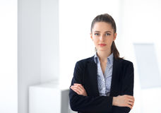 Free Portrait Of Young Beautiful Business Woman In The Office Royalty Free Stock Photo - 88508105