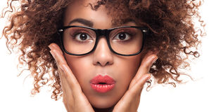 Free Portrait Of Young Girl With Afro. Stock Photography - 69149212