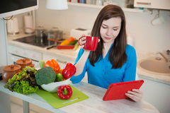 Free Portrait Of Young Pretty Woman In The Kitchen. Royalty Free Stock Photo - 70288105