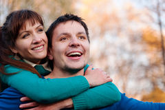 Portrait Of Young Smiling Couple Stock Photography