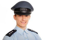 Portrait Of Young Smiling Policeman Stock Images