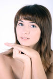 Portrait Of Young Woman Skin Stock Images
