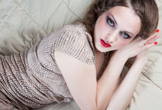 Portrait Of Young Woman With Big Eyes Royalty Free Stock Image