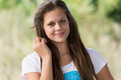 Portrait ofa girl 14 years in nature Royalty Free Stock Photography