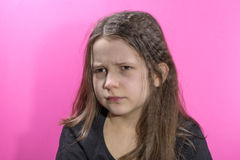 Portrait of the offended and frustrated girl Royalty Free Stock Photography