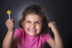 Portrait of offended little girl Royalty Free Stock Photos