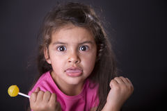 Portrait of offended little girl Stock Photos