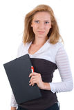 Portrait Of Office Blonde Girl Royalty Free Stock Photos