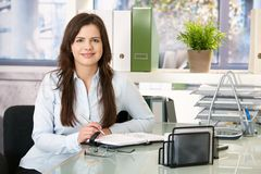 Portrait of office girl royalty free stock images