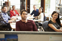 Portrait Of Office Staff At Table In Architect's Office Royalty Free Stock Photos