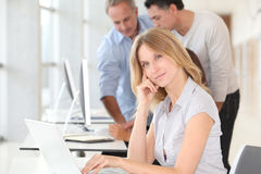 Portrait of office worker Stock Image