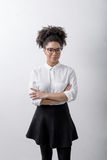 Portrait of an office worker woman. Wearing casual clothes Royalty Free Stock Photography