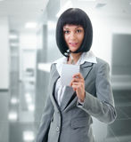 Portrait of an office worker Royalty Free Stock Photos