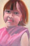 Portrait- oil on canvas Stock Image