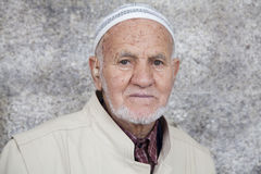 Portrait of an old Arab man with a white beard Stock Image