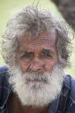 Portrait old beggar man on a street. Sri Lanka Royalty Free Stock Photo
