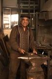 Portrait of  old blacksmith Stock Photo